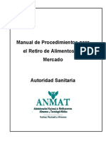 Manual Retiro Alimentos