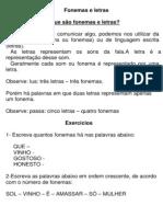 Fonemas e Letras