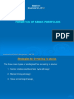 Strategies for Investing in Stocks
