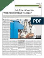 Plan Nacional de Diversificación Productiva Teoría o Realidad_Gestión 20-05-2014