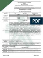 223309 Tecnologo en Automatizacion Industrial