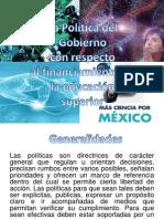 La Política Del Gobierno Con Respecto a La Educacion Media