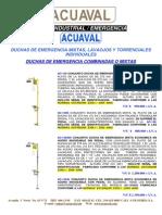 COTIZACION DUCHAS y  LAVAOJOS   DE EMERGENCIA ACUAVAL (COL$)  Y BRADLEY (USD$) LP JULIO  2012