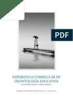 Experiencia Curricular de Deontología Educativa