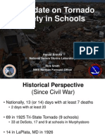 A historic perspective on tornado disasters at schools from the National Weather Service