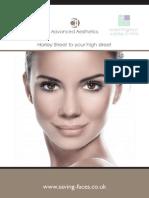 Saving Faces & Warrington Smile Clinic Facial Aesthetics Brochure