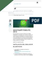 WhatsApp PC 2014 _ Descarga Gratis