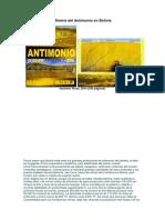 Minería Del Antimonio en Bolivia