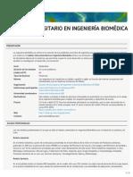 Máster Universitario en Ingeniería Biomédica (ETSEIB)