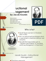 Instructional Management by Jacob Kounin