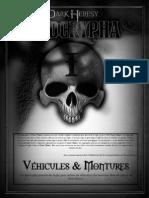 Dark Heresy Apocrypha Vehicules Et Montures Secteur-Calixis.fr
