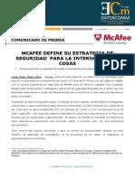 NP McAfee -McAfee Define Su Estrategia de Seguridad Para La Internet de Las Cosas