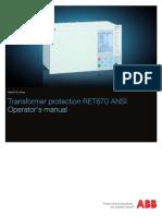 1MRK504114-UUS C en Operator s Manual RET670 ANSI 1.2