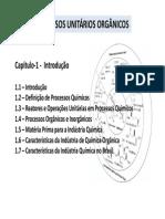 Capitulo 1 Processos Unitários Orgânicos Introdução
