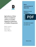 Agricultura y clima futuro en América Latina y el Caribe