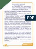 Comunicato Al Personale Bonus Fiscale 2014 16 Maggio 2014
