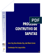 Processo Construtivo de Sapatas