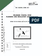 Coastal Zone Act Report 1971-1973