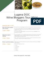 Lugana DOC Wine Bloggers Tour 2014 - Tour Program