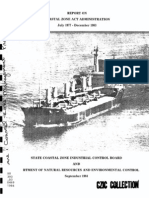 Report on Coastal Zone Act Administration 1977-1983