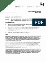 Item 54, fare changes proposal