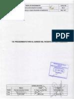 139 Proc Para El Egreso Del Paciente en Hospitalizacion