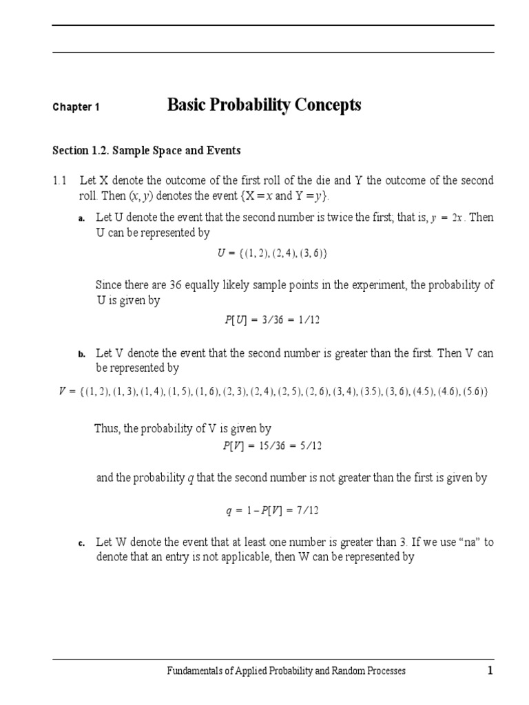 Fundamentals of Applied Probability and Random Processes Oliver C Ibe  Solution | Probability | Randomness