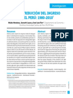 Distribución Del Ingreso en Perú