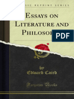 Essays on Literature and Philosophy 1000047541