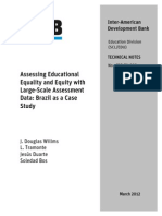 Assessing Educational Equality and Equity With Large-Scale Assessment