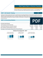 Massachusetts 2013 Progress Report on E-Prescribing