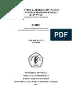 Good Pengaruh Program Keselamatan Dan Kesehatan Kerja Karyawan Terhadap Kinerja Karyawan Studi Pada Karyawan PT. Bentoel Prima Malang