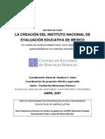CEPP-La Creación Del Inst Nac de Eval Educ de Mex