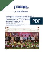 "18-05-2014 e-consulta.com - Inauguran autoridades estatales y municipales la ""Feria Nacional del Sarape Contla 2014""."