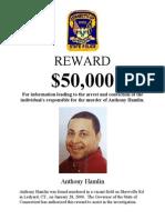 Anthony Hamlin Reward Poster