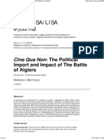Cine Qua Non_ the Political Import and Impact of the Battle of Algiers