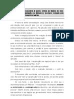 Comentário à análise crítica do colega João Evaristo