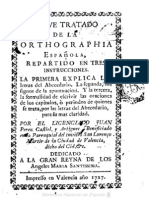 1727 - Breve Tratado de La Orthographia Española - Juan Pérez Castiel - Valencia, 1727