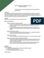 Programa de Desarrollo de Habitos y Técnicas de Estudio