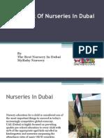 An Insight of Nurseries in Dubai