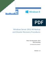 WindowsServer2012ADBackupandDisasterRecoveryProcedures_V1.2