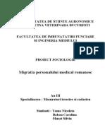Migratia Personalului Medical Romanesc