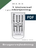 AGK 10 in 1 Remote Manual DK UK SE De