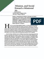 Michael Barram - Bible Mission and Social Location Hermeneutic