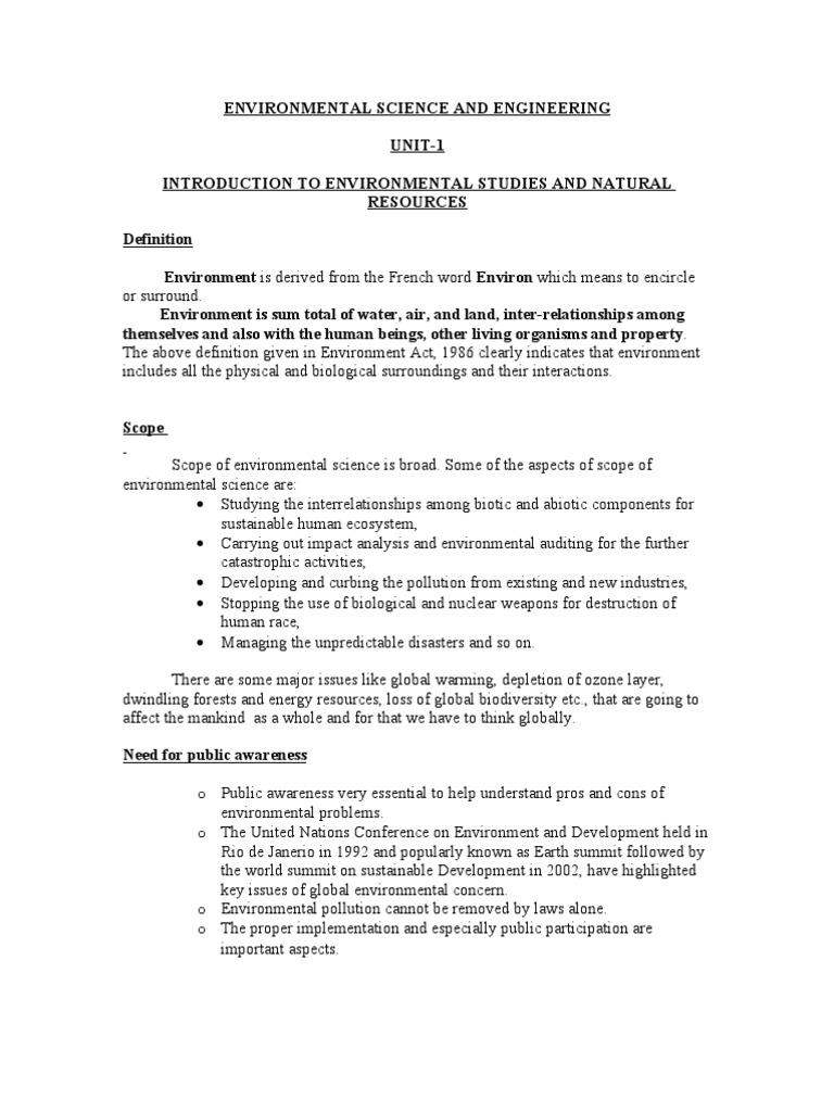 environmental studies scope