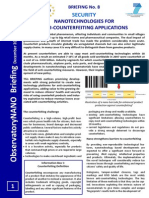 Briefing No.8 Nanotechnologies for Anti-counterfeiting Applications