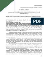 IDP, OJC () Jurisdição Constitucional e a Omissão Legislativa Infraconstitucional - Bielorrúsia
