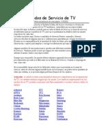 Modos de Servicio de TV(2)
