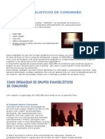 GRUPOS EVANGELISTICOS DE COMUNHÃO