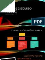 Tipos de Discurso Público Según 3 Criterios
